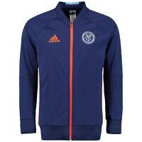 Adidas Men's New York City FC Travel Full Zip Hoodie (Navy/Orange) AC0081