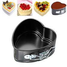 Kitchen Love Heart Shape Non Stick Baking Tray Pan Form Spring Oven Cake Tins