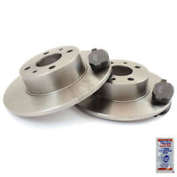Brake Discs Pads Front For Smart Fortwo Coupe 450 0.8 CDI