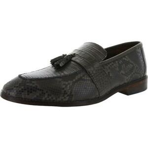 Stacy Adams Mens Pacetti Gray Tassel Loafers Evening 11 Wide (E) BHFO 0232