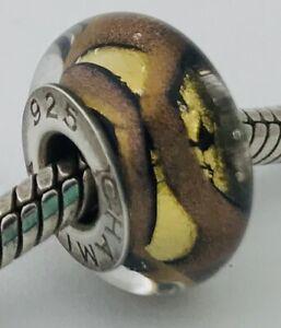 Authentic Chamilia Glass Midnight Dream Bead Charm OB-154, New