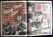 URIAH HEEP 1973 original POSTER ADVERT LIVE