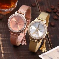 Luxury Women Classic Eiffel Tower Stainless Steel Band Quartz Analog Wrist Watch