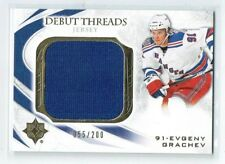 10-11 UD Ultimate Debut Threads  Evgeny Grachev  /200  Jersey  Rookie