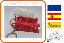 Llavero con nombre personalizados en 3D Colores 7 x 2,4 cm. Colgante llaves