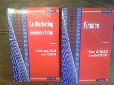 Lot de 2 livres collection gestion série politique générale finance et marketing