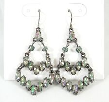 New Pair of Beautiful Iridescent AB Crystal Chandalier Earrings NWT #E1076