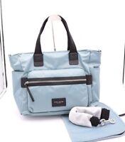NWT Marc Jacobs Biker Baby Blue Nylon Diaper Bag Tote New $295