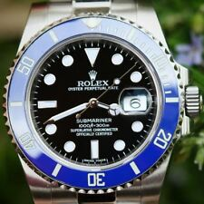 Rolex Submariner 116610 Steel Bruiser Batman Custom Bezel 4 White Gold 116619