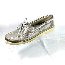Sperry Top Sider women's Boat Shoes Gold Metallic size 6.5 M