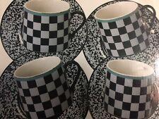 Signature Houseware City Scape Cappuccino Set of 4 Cups & Saucers Japan