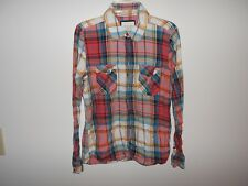 Forever 21 Womens Plaid Cotton Shirt M Good Cond!