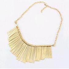 Fashion Women Metal Statement Bib Tassel Choker Chain Collar Necklace Chain Gift