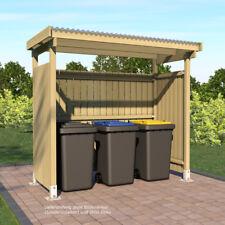 Unterstand 250x125 für Mülltonnen oder auch Gartengeräte und Kaminholz