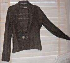 Sarah Pacini ~ Art to Wear ~ Ribbed Heathered Brown Buttonfront Cardigan 297da9616