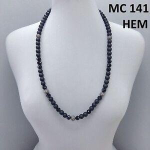 Simple Hematite Rhinestone Shamballa Ball Black Color Ball Beads Necklace
