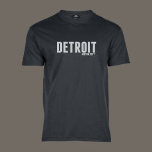 T-Shirt Motor City Detroit   MOPAR Flathead Outlaw Muscle Car USA V8 grau S-5XL