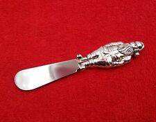 """Santa Claus Christmas Holiday Cheese Knife Silverplate Stainless Wallace 5 1/4"""""""