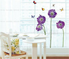 Flowers and butterflies Home room Decor Removable Wall Sticker/Decal/Decoration