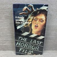 RARE NEW SEALED THE LAST HORROR FILM VHS MEDIA VIDEO SLASHER HORROR