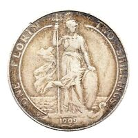 KM# 801 - One Florin - Two Shillings - Edward VII - Great Britain 1909 (F)