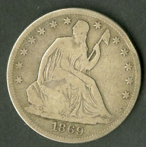 US Coin 1869-S Seated Liberty Half Dollar NO RESERVE!