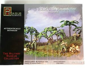 USMC in VIETNAM Circa 1965 Scale 1/72 Military Museum Pegasus Hobbies 7401 TOY