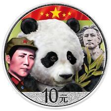 Cina 10 Yuan Panda 2018-giovane Mao Tse-Tung (3.) - 30 tg. ARGENTO ST