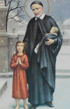 Vintage SAINT VINCENT De PAUL Patron St. of the LOST wall art Religious