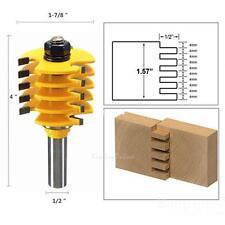 """Adjust 5 Blade 3 Flute Finger Joint Router Bit 1/2"""" Shank Woodwork Cutter Tool"""