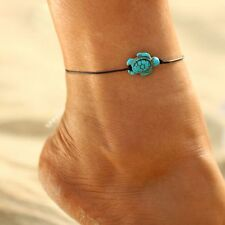 Vintage Hot Tortoise Pendant Anklet Beach Leather Chain Summer Foot Jewelry Gift
