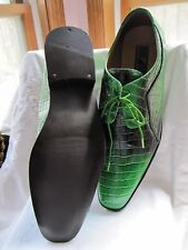#MAKEASTATEMENT STUNNING GREEN MOCK CROC GIORGIO BRUTINI MENS OXFORD SIZE 14M