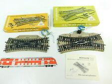 BR604-1# 2x Märklin H0/AC Kreuzungsweiche 5128/5207 M-Gleis geprüft, OVP