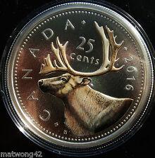 *SOLDOUT* 2016 Canada Coloured Coin – 5 oz Big Coin Series: 25 Cents Quarter