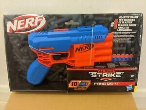 Nerf Alpha Strike Fang QS-4 Blaster Brand New Red & Blue Design