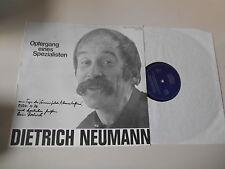 LP Polit Dietrich Neumann - Opfergang eines Spezialisten (10 Song) DA CAMERA sig