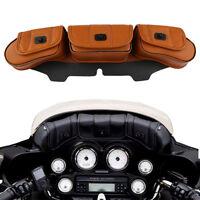 Windschutzscheibe Satteltaschen Windshield Bag für Harley Touring Electra Street