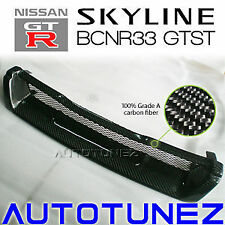 Carbon Fiber Front Grill For Nissan Skyline R33 GTST BCNR33 TU Nismo Black Car