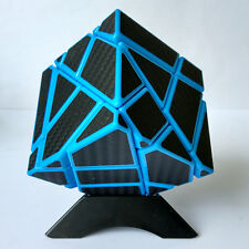 Ninja Ghost Carbon Fiber Magic Cube Skewb Twist Puzzle Educational Toy Blue edge