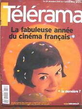 2711 ANNéE DU CINEMA FRANCAIS JOHN CHEEVER CLAUDE SANTELLI BECAUD TELERAMA 2001