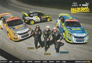 2013 Subaru Puma RallyCross Team Impreza GRC Hero Card MIRRA LASEK ISACHSEN