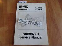 2003 2004 2005 Kawasaki KLX125 KLX125L Service Manual OEM