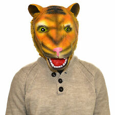 Latex Full Head Overhead Jungle Tiger Realistic Animal Cosplay Halloween Mask