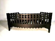 New listing Antique Cast Iron Fire Place Grate insert wood coal basket