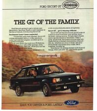1982 Ford ESCORT GT Black 2-door Coupe Vintage Ad