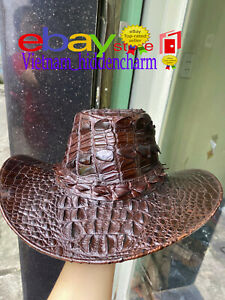 Genuine Crocodile Hat - Authentic Crocodile Skin-100% Handmade-Special Unique
