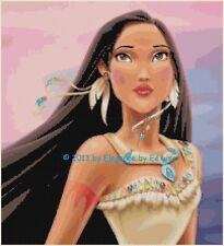 "Disney's Native American Princess ""Portrait of Pocahontas"" X-Stitch Pattern CD"