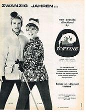 PUBLICITE ADVERTISING  1965   LOFTINE   ZWANZIG JAHREN   anoraks   VETEMENTS SKI