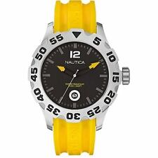 Nautica Men's N14604G BFD 100 Date Yellow and Black Watch