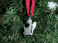Swedish Pewter Christmas Ornament Tennesmed Sweden Praying Angel #J-205